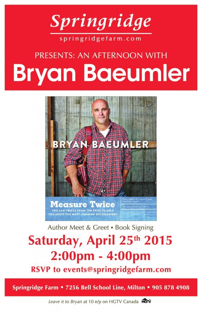 Springridge Farm Bryan Baeumler Event Flyer